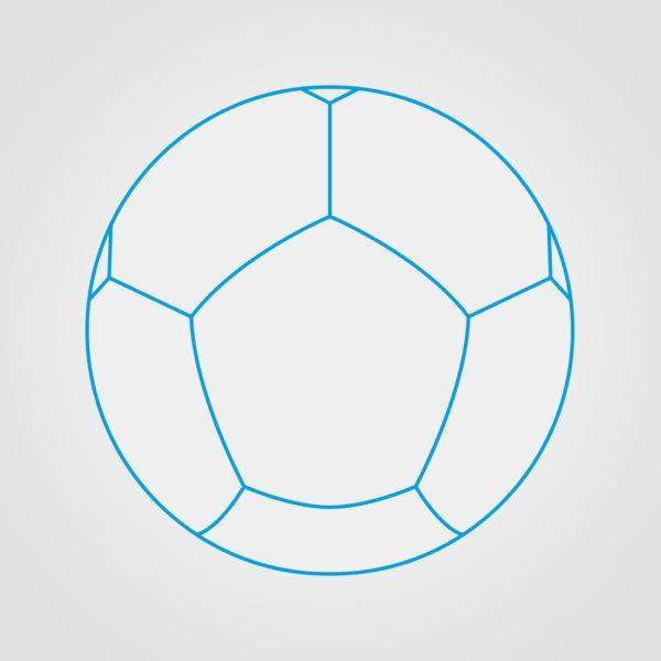 12 Panel Miniball Ball Sketch
