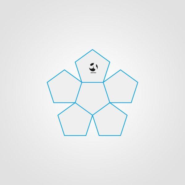 12 Panel Miniball Open Sketch