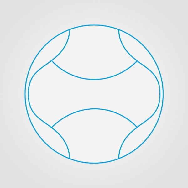 6 Panel Miniball Sketch Ball